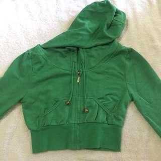 crop hoodie glitter
