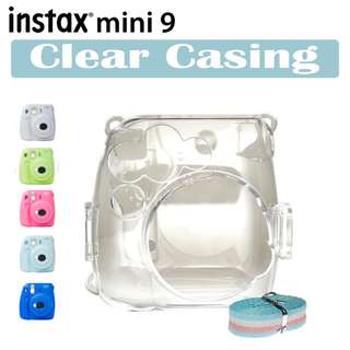 Fujifilm Mini 9 Instax Mini Instant Camera Clear Casing
