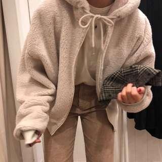 暖暖羊羔毛連帽外套(預購)