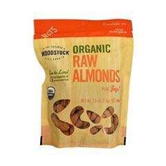 Woodstock Organic Raw Almond Nuts, 7.5