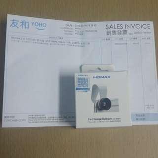全新手提電話 momax 2 in 1微距鏡+廣角鏡, 原價49