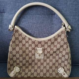 Gucci Canvas Abbey Shoulder Bag