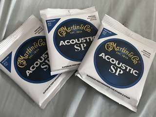 Martin SP acoustic strings