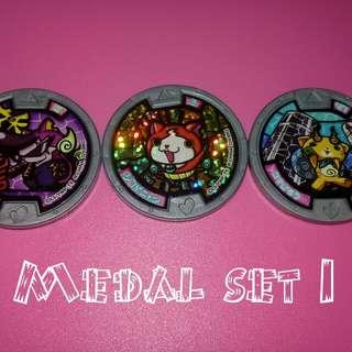 Yokai Watch Medal Set 1-4