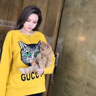 Gucci guccy cat hoodie