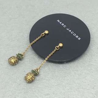 Marc Jacobs Sample Earrings pineapple 🍍 菠蘿閃石吊飾耳環