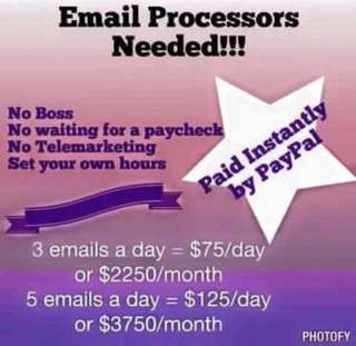 Email Processors Needed!