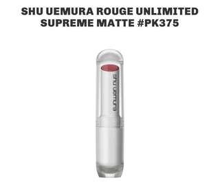 Brand New Shu Uemura Rouge Unlimited Supreme Matte Lipstick # PK 375