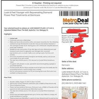 Buy 4 vouchers, get one voucher for free! Rejuvenating Diamond PowerPeel Treatment at Dermcare Alphaland Makati Branch