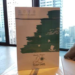 Starbucks 2018 Planner Large Green (Unopened)