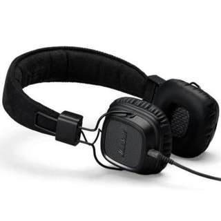 MARSHALL MAJOR II HEADPHONES, PITCH BLACK With 1 Year Warranty Selling @ S$139.