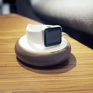 [Free Shipping 包郵] Apple Watch 充電線收納 胡桃木 底座 iWatch Charging Dock