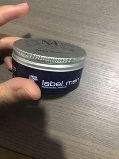 Label. men max wax
