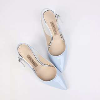 Zara 淺藍色高跟鞋