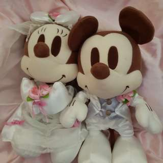 mickey mouse wedding couple soft toys