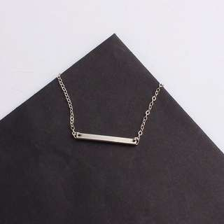 stainless steel simple single bar necklace