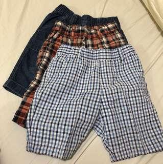 3pcs Shorts