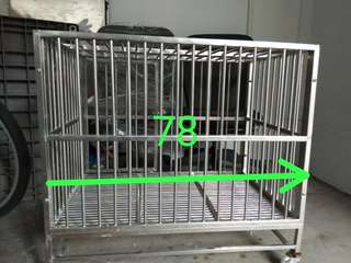 Stainless Steel cage.