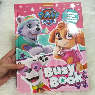 Baby book - paw patrol busy book
