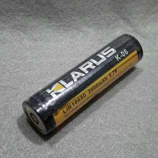 KLARUS  LIR 18650 2600mAh 3.7V  for  limited model flashlight from KLARUS )