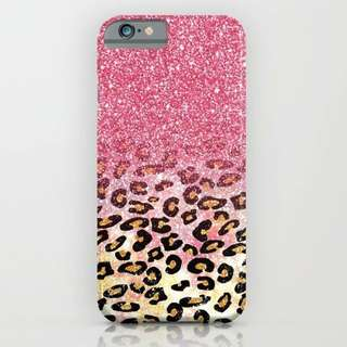 Custom case blink leopard
