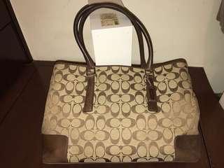 Coach carryall handbag