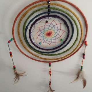 Rainbow Spinning Dream Catcher