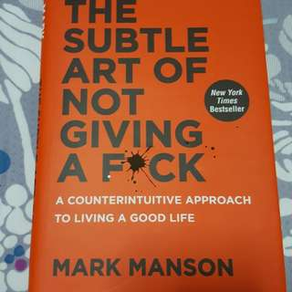 Hardcover book - The subtle art of not giving a f*ck
