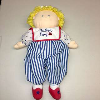 Vintage Stuffed Sailor Boy Doll