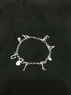 Silver Iloveyoua bracelet