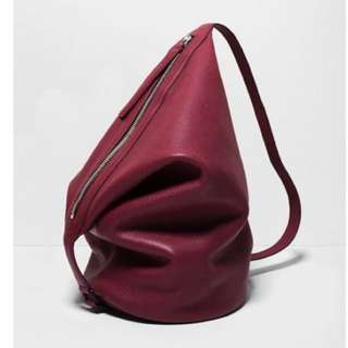 Dry Bag in Maroon Pebbled Leather
