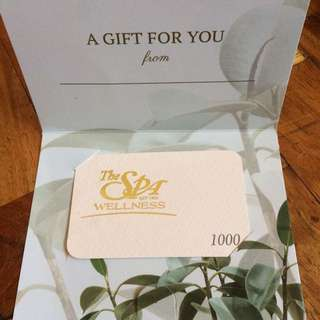 The Spa Gift Card Php1000