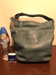 Coach leather duffel handbag