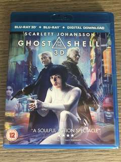 Imported 3D +2D Blu Ray. Ghost In The Shell