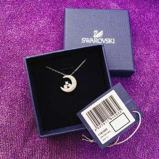 Swarovski 水晶月亮頸鍊