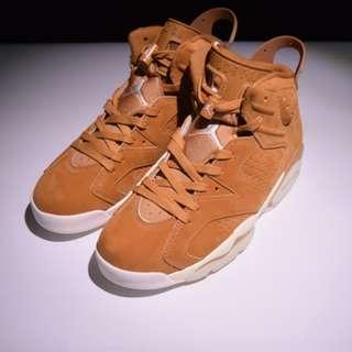 "Air Jordan 6 ""Golden Harvest""鹿皮材料 AJ6小麥黃"
