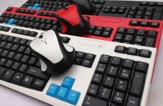 全新無線型格鍵盤滑鼠組合(白色)
