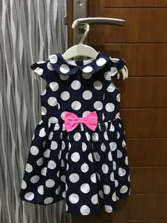 Dress Polkadot Navy Blue