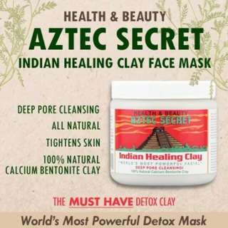 *INSTOCK* World's Most Powerful Facial Indian Healing Clay 100% Bentonite Clay