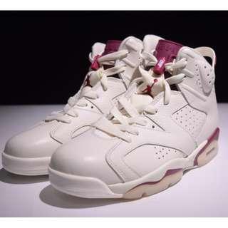 """Air Jordan 6 """"Maroon""""AJ6魔力紅 喬6 384664-116"""