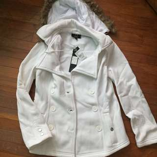 White Winter Jacket with hood