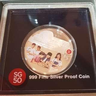SG50 Silver Coin 999