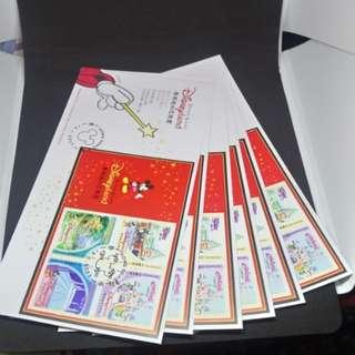 2003年 香港迪士尼樂園 Disneyland 首日封 郵票 共6個