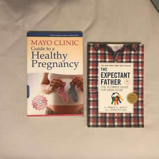 His & Hers Pregnancy books - two of the best on the market! **as new**