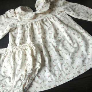 Baby Flower White Dress