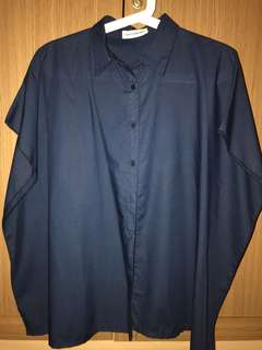 COTTONINK Navy Blue All Size Shirt