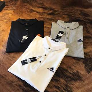 Adidas polo tee in 3 colors