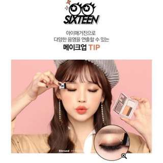 CRAZY DEAL! READY STOCKS! Korea Latest Popular! <16 Brand> Sixteen Eye Magazine Eyeshadow by Chosungah