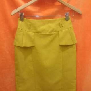 Yellow peplum skirt Gisele