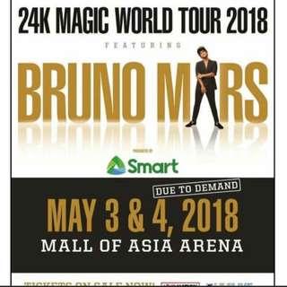 Buying 2 GA Bruno Mars Tickets